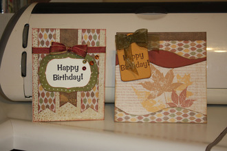 Fall Birthday Cards...Sept. Holiday challenge