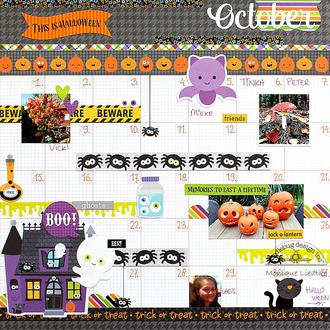 October Calendar Page - Doodlebug