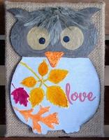 Chipboard Owl Home Decor