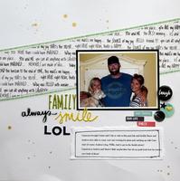 Family Aways Smile - October Mfg Challenge