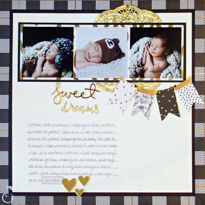 sweet dreams layout using yes please by my minds eye