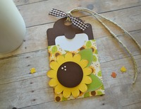 Sunflower gift tag and gift card holder
