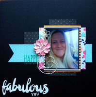 fabulous you (Oct 2016 Manufacturer and Scraplift the GD Challenges)