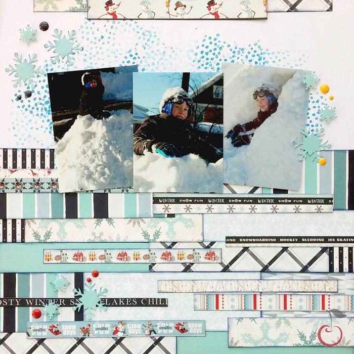layered winter layout
