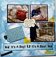 Max's first bath A