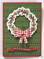 Wreath Holly Jolly Christmas *Pebbles*