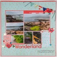 Banners on a Scrapbook Layout