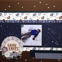 Snow Angel (Jan 2017 Supply List W/A Twist and Mood Board Challenges)