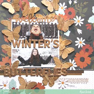 Welcome Winter's Butterflies *Pebbles*