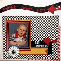 sweet baby boy (Jan 2017 Artsy Craftsy Challenge)