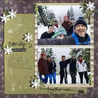 Family Snowshoers