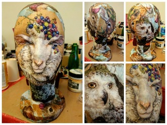 Crazy mannequin head