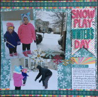 Snow Play on a Winter's Day