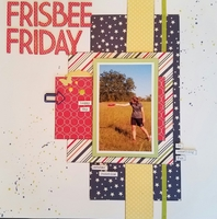 Frisbee Friday double page spread