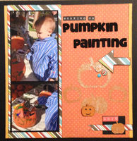 pumpkin painting (Feb 2017 What's On TV and Die Cut Challenges)