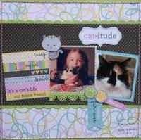 Cat-itude (little girl loves her kitty)