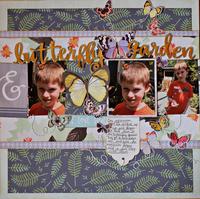 butterfly garden *BF Sketch #128*