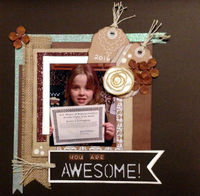 You Are Awesome! (March 2017 Artsy Craftsy and Layout Prompt Challenges)