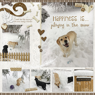 Happiness is… Playing in the Snow