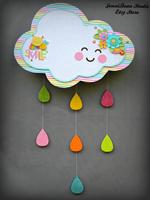Happy Rain Cloud Wall Hanging