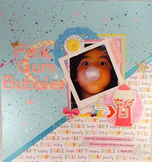 Pink Gum Bubbles