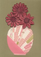 Iris Fold Vase Card