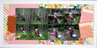 Lizzie - ziplining