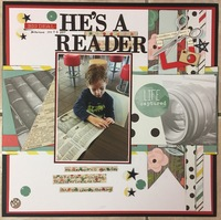 He's A Reader (MMC Challenge #2, Layout #2)