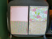 Girly Purse Mini Album 3 Card inserts