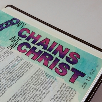 My Chains (Bible Journal entry)
