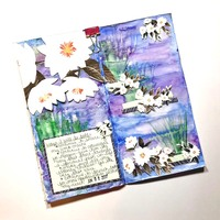 Travelers Notebook Spread Inspired by Monet