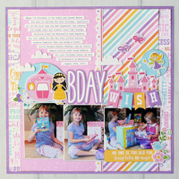 "Echo Park Perfect Princess ""Birthday Wish"" Layout"