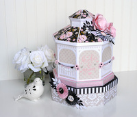 Bride & Groom Wedding Gazebo Centerpiece or Gift Box
