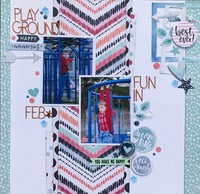 Playground Fun IN Feb. *Scraplift Saturday Layout*