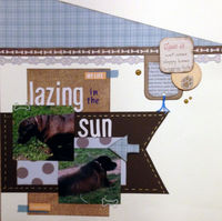 lazing in the sun (July 2017 Scraplift Saturdays 1)