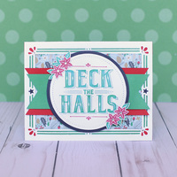 Deck the Halls Poinsettia Card