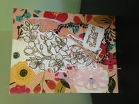 Golden Orchid Thank You Card