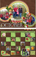 October 2018 Calendar with Trip to the Orchard
