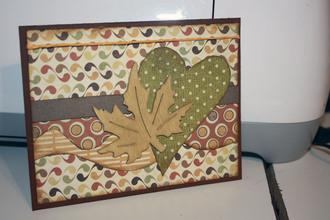 Autumn card with leaf