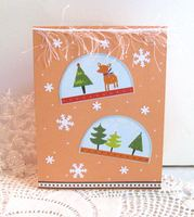 Christmas Card Snow Globes