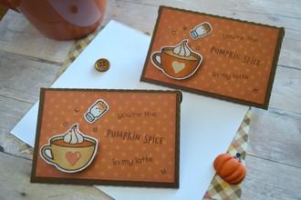 pumpkin spice gift card holders
