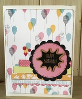 Sketch N Scrap - Happy Birthday Card