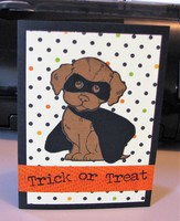 Puppy Halloween Card