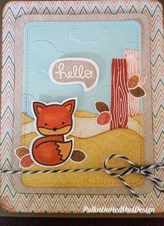 Hello fox card