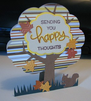Fall Happy Thoughts Card