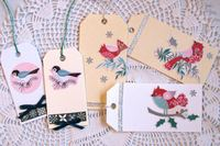 Christmas Tags Birds
