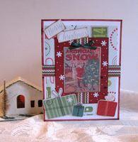 Christmas Card Snow Label