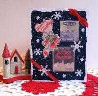 Christmas Card Snow Blue