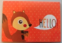 Hello Squirrel card