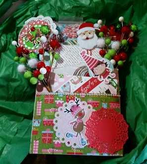 My Christmas loaded envelope from love2stamp